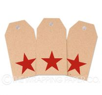 TAG INK KRAFT RED STAR