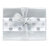 silver pearl wrapping paper