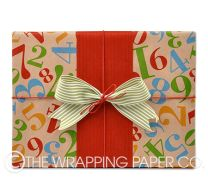 1234me bright kraft wrapping paper