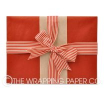 red kraft wrapping paper