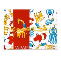 Animal party wrapping paper