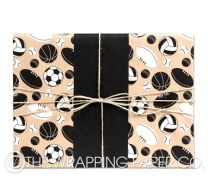 Balls galore wrapping paper