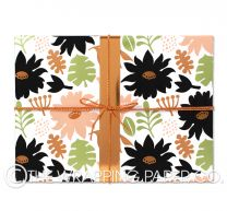 Peony pink wrapping paper