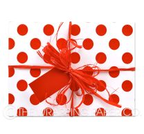 large red dot wrapping paper