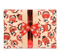 penguins kraft christmas wrapping paper