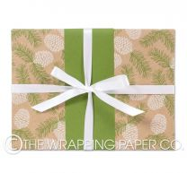 pine cones kraft christmas wrapping paper