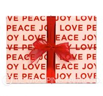peace love joy nude christmas wrapping paper
