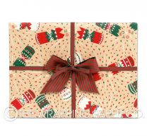 crackers kraft christmas wrapping paper