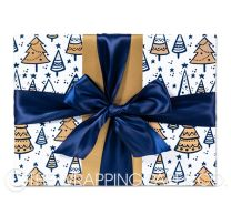 kerstboom gold christmas wrapping paper