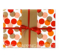 xmas berry wreath christmas wrapping paper