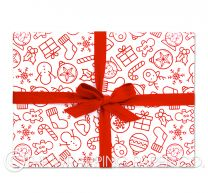 my xmas red christmas wrapping paper