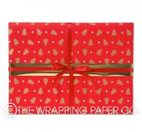 let it snow red/gold christmas wrapping paper