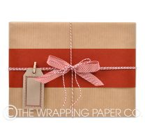 plain ribbed kraft wrapping paper