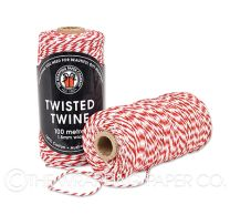 TWISTED TWINE RED WHITE