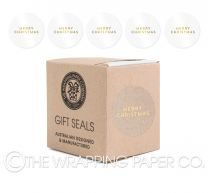 MERRY CHRISTMAS GOLD CLEAR  SEALS