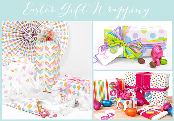 Easter gift wrapping negle Images