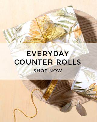 Gift Wrapping Paper Counter Rolls